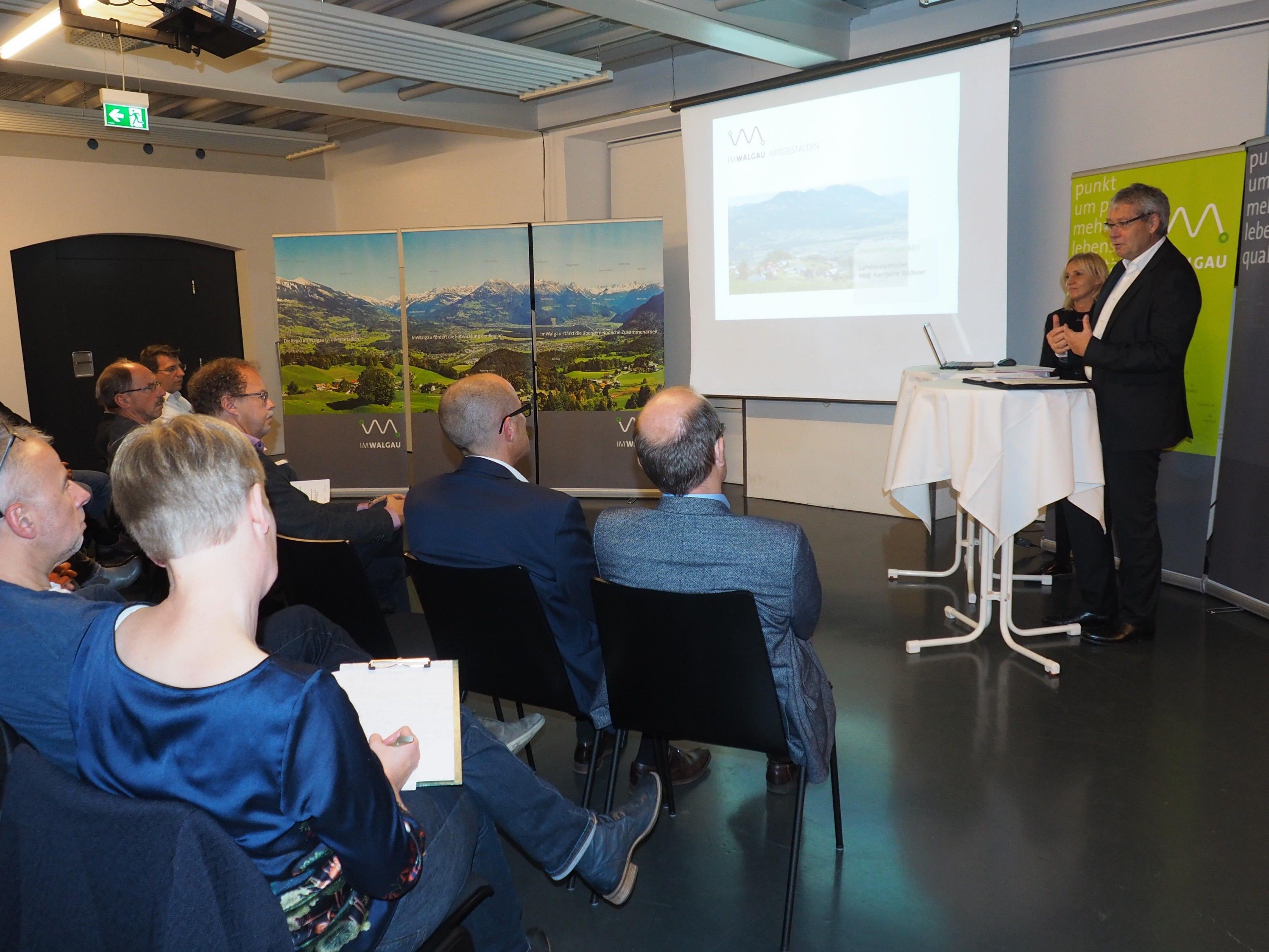 Landesstatthalter Karlheinz Rüdisser informierte über neue Förderrichtlinien.