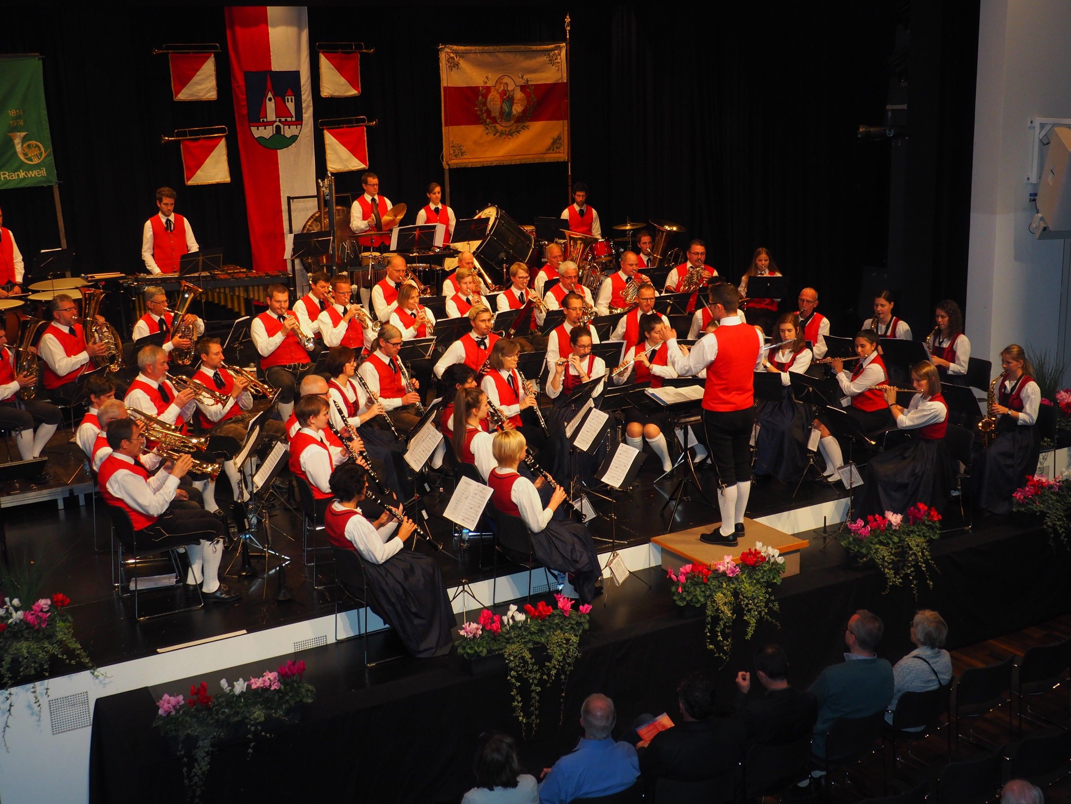 Herbstkonzert der Bürgermusik Rankweil im Vinomnasaal