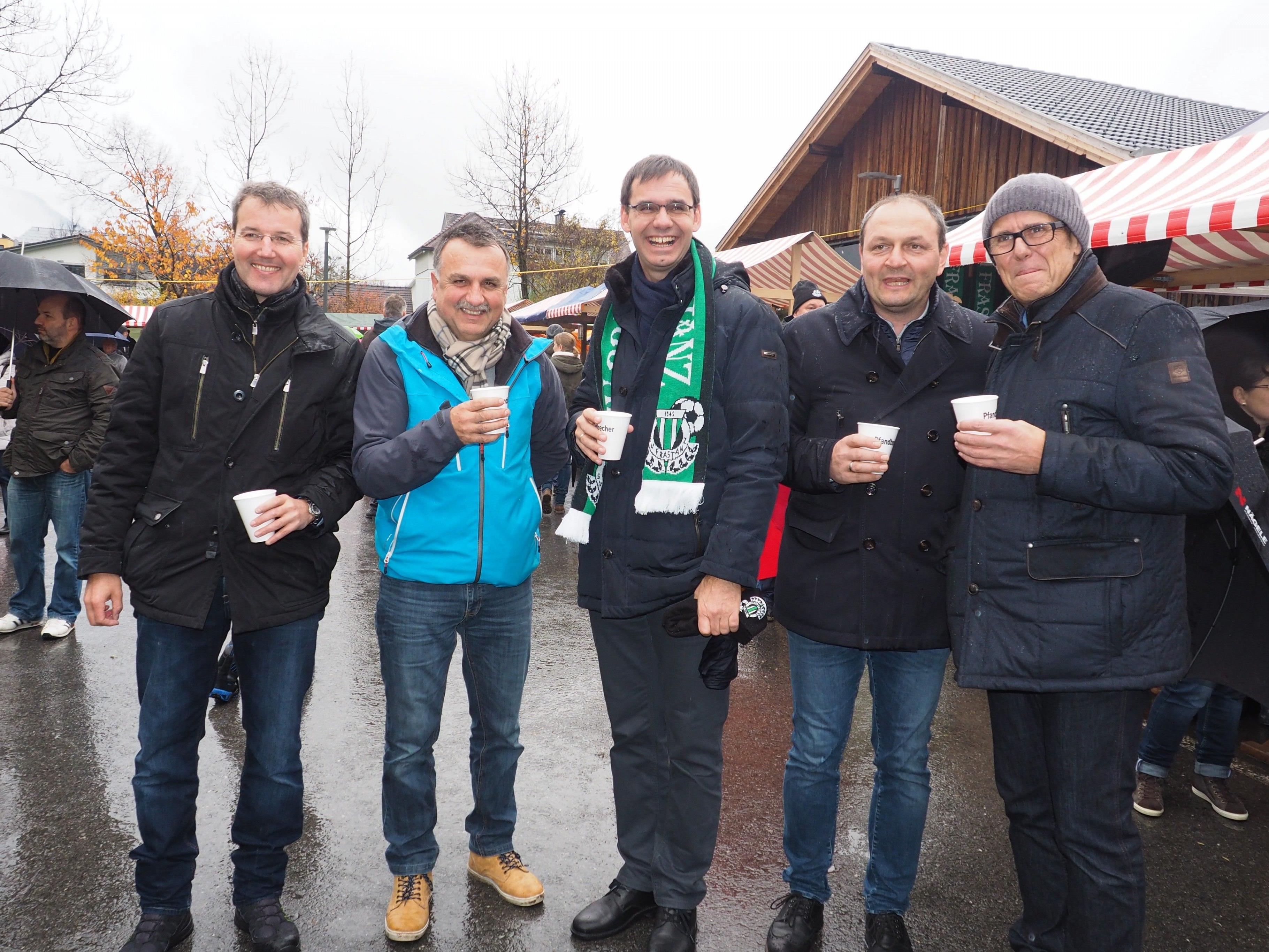 Rainer Hartmann, Vesi Marcovic, Markus Wallner, Alexander Krista und Walter Gohm