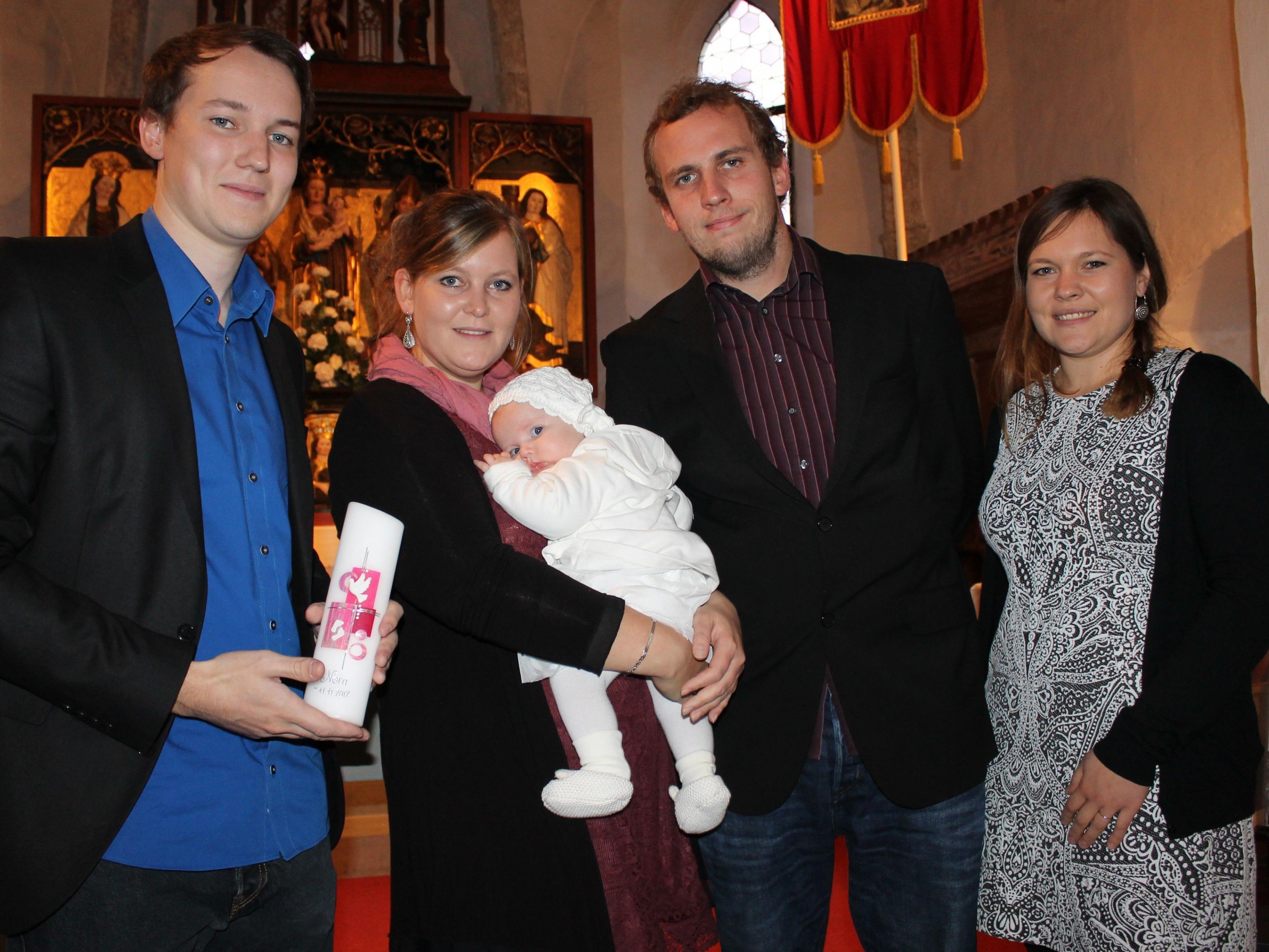 Nora Borg wurde in Beschling getauft