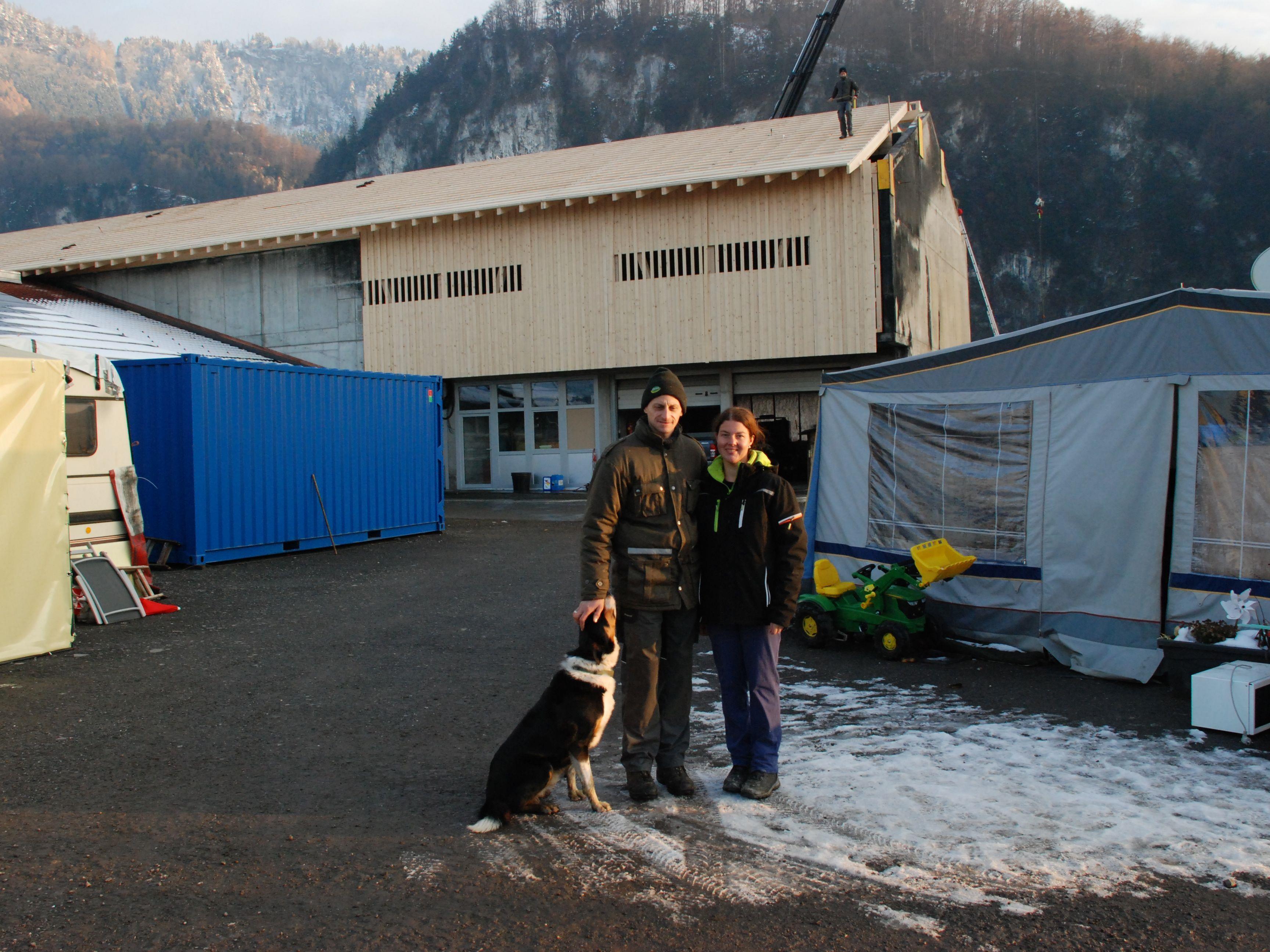 Der Wiederaufbau des Bauernhofes der Familie Kathan schreitet voran.
