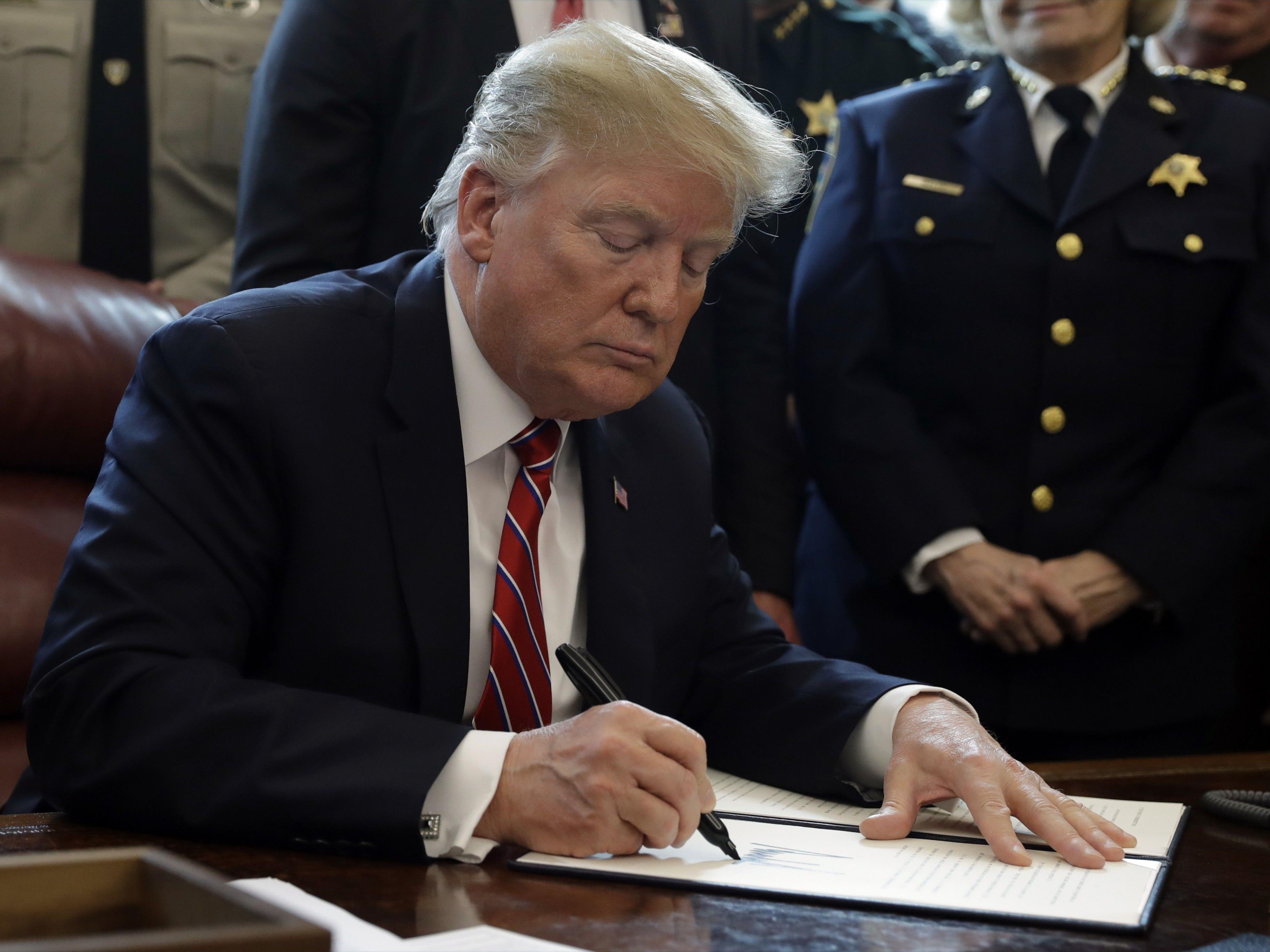 US-Präsident Donald Trump hat sein Veto gegen einen Kongressbeschluss eingelegt.
