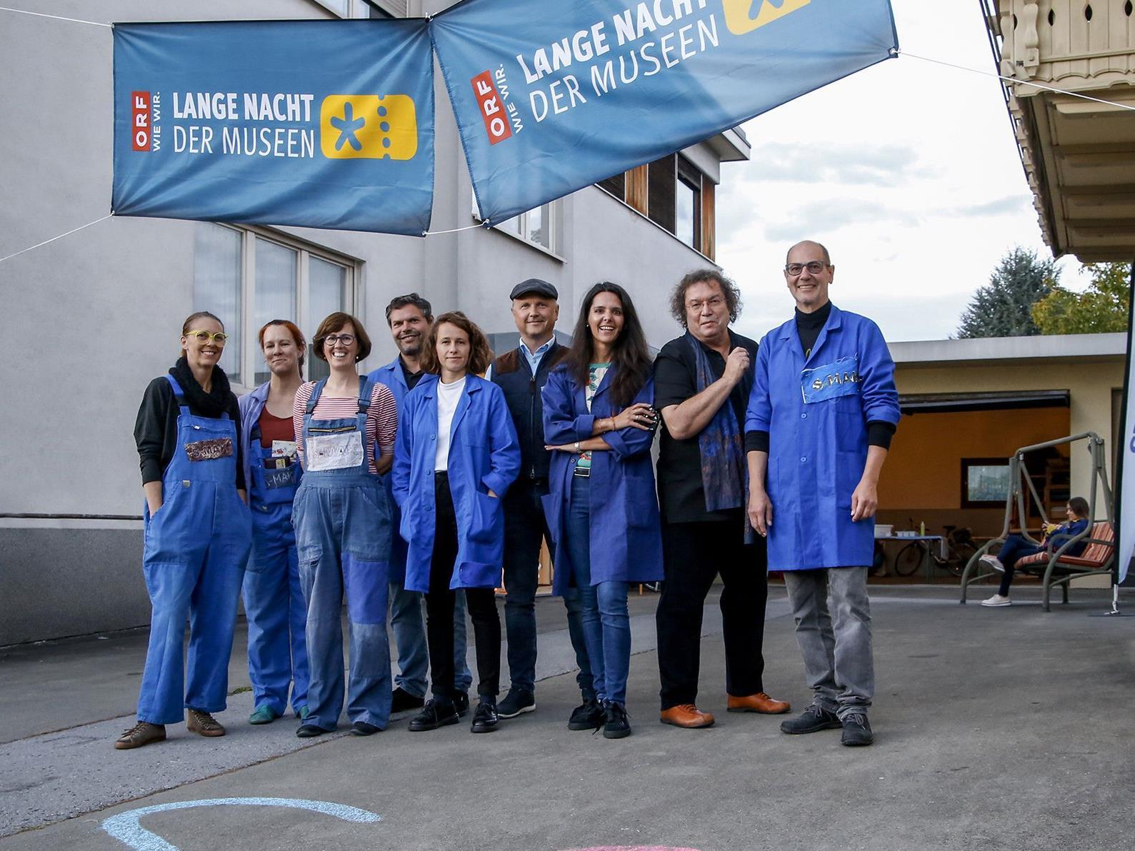 Das Team des SMAK bei der Langen Nacht der Museen 2018.