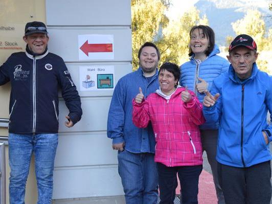 Die Wahlen in den Werkstätten Bludenz, Ludesch und Montafon wurden von dien KlientInnen gerne und gut besucht.