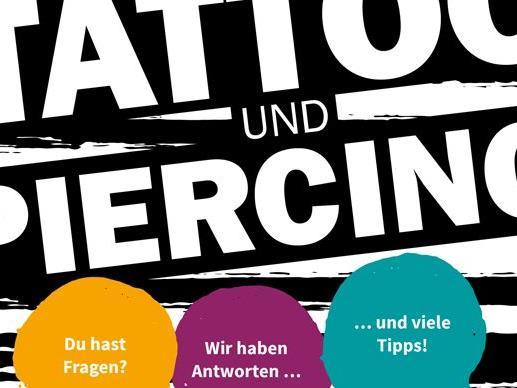 """Die neue Broschüre """"Tattoo und Piercing"""" ist kostenlos im aha Dornbirn, Bregenz und Bludenz erhältlich."""
