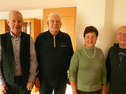 Gstrein Hubert, der Jubilar, Erika Wolf, Hutter Hans