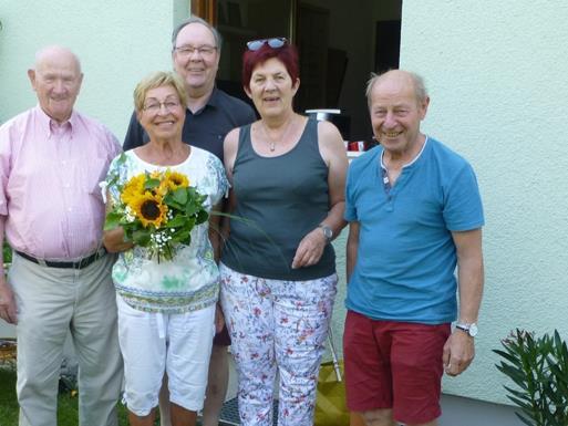 v.l.n.r.: Fritz Schabus, Hanni Amann, Johann Bachmann, Gerda Spreitzer, Bernhard Winkler