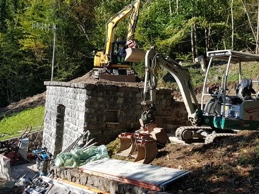 Derzeit finden beim Hochbehälter Halde Sanierungsarbeiten statt.