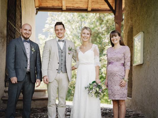 Das frisch vermählte Paar Ramona und Mathias.