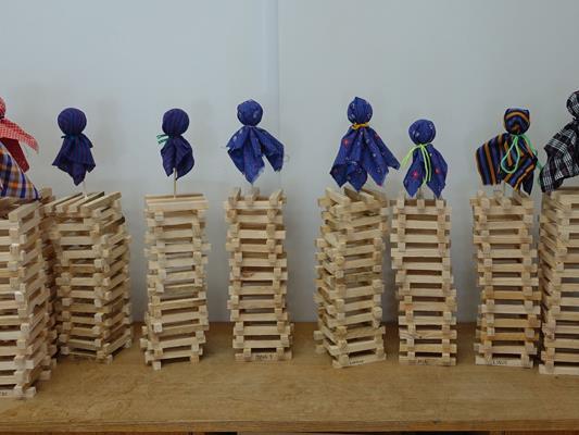 Die Kinder der Gummibärenbande bauten freudig ihre Funken!