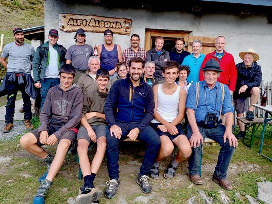 Die Alpe Albona zeichnet sich auch durch die enge Zusammenarbeit von Alp- und Jagdwirtschaft aus.