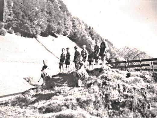 Aufmarsch der Hitlerjugend in Dalaas